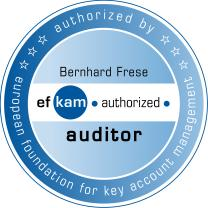 Bernhard Frese ist zugelassenen Auditor der European Foundation for Key Account Management